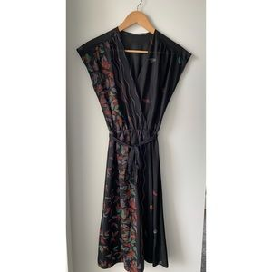 Beautiful Vintage Black Floral Dress